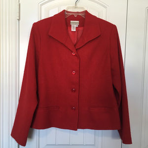 Coldwater Creek Red Fully Lined Jacket Size 14